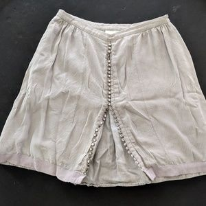Anthropologie Button-Down Skirt